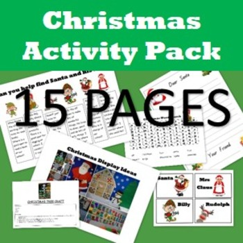 Christmas Activities Pack- 15 pages of Christmas activitie
