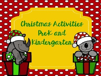 #SPEDGivesThanks Christmas Activities Pre-K and Kindergarten