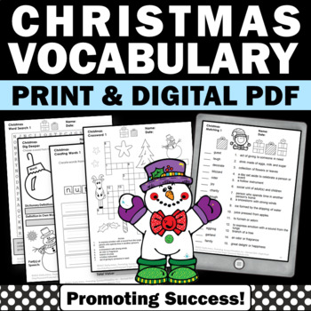 Christmas No Prep Worksheets Word Search Sentence Writing