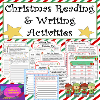 Christmas Activities * Writing Prompts + Other Fun, No-Pre