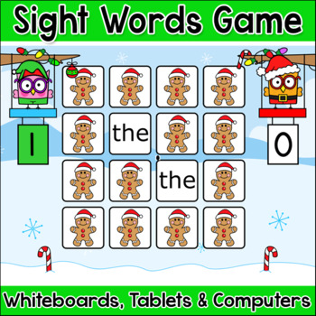 Christmas Activities Sight Words Gingerbread Man Memory Ga
