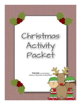 Christmas Activity Packet (Bundle)