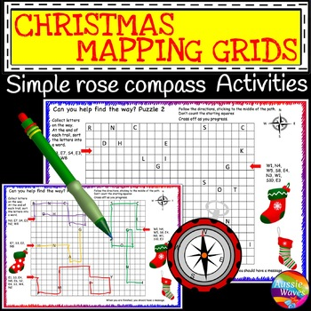 Christmas Activity Rose Compass Plotting Directions Simple