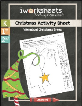 Christmas Activity Sheet - Whimsical Trees