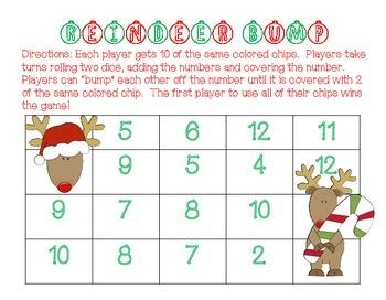 Christmas Addition Bump Games