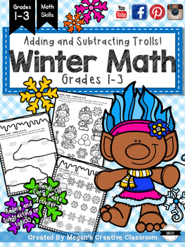 Winter Addition and Subtraction (with cute Trolls!)
