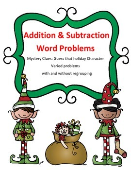 Christmas Math Addition and Subtraction Word Problems Myst