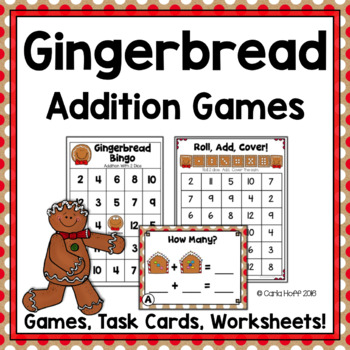 Christmas Addition to 12 - Gingerbread Games & Printables