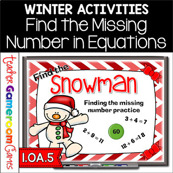 Find the Snowman Missing Number Powerpoint Game