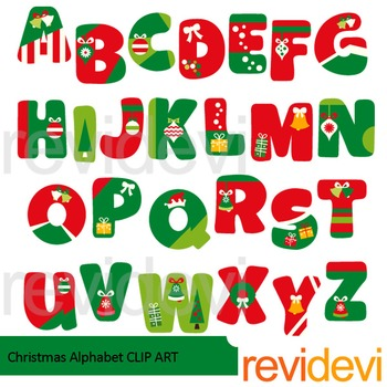 Christmas Alphabet Clip art
