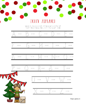 Christmas Alphabet Hand Writing Practice