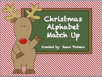 Christmas Alphabet Match-up (Matching Upper and Lower Case