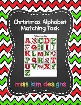Christmas Alphabet Matching Folder Game for students with Autism
