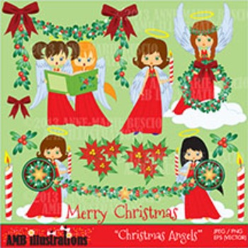 Christmas Angels clipart AMB-279