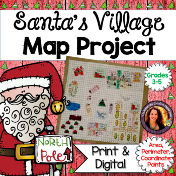 Christmas Area and Perimeter Map Project