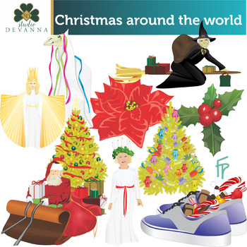 Christmas Around The World Clip Art