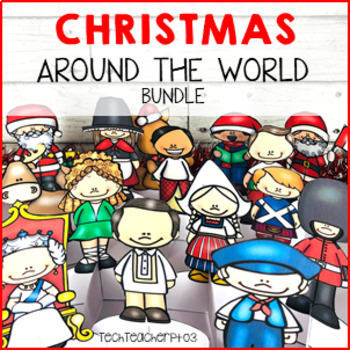 Christmas Around The World ** 10 Countries ** Maps, Passport & Reading Tasks