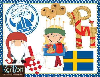 Christmas Around The World Sweden Clip-Art