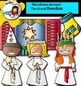 Christmas Around The World: Sweden Clip Art- Color/ black&