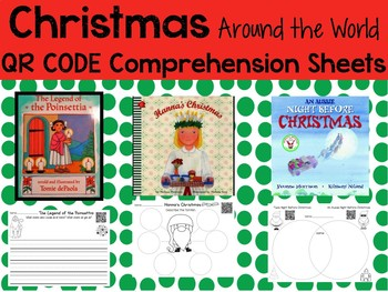 Christmas Around World QR codes with Comprehension Sheets