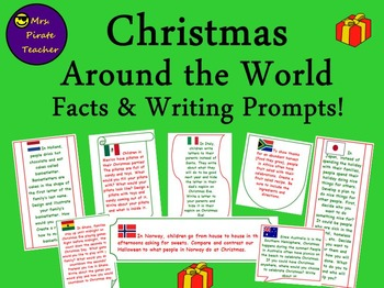 Christmas Around the World Facts and Writing Prompts FREEBIE!