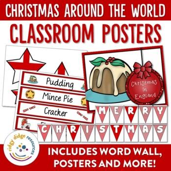 Christmas Around the World Mega Classroom Posters Display Bundle