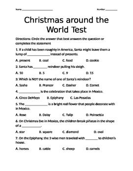Christmas Around the World Test