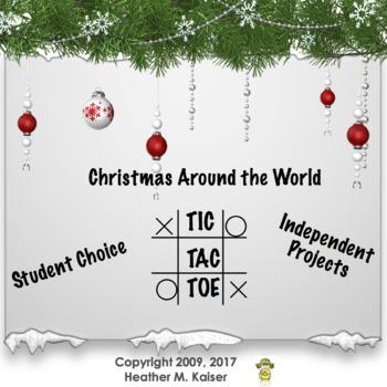 Christmas Around the World Tic Tac Toe Choice Board