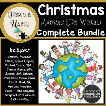 Christmas Around the World: Thematic Unit MEGA BUNDLE