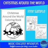 Christmas Around the World coloring Book Samples