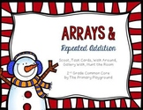 Christmas Arrays Repeated Addition Cards {Scoot, Gallery W