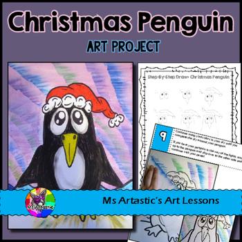 Christmas Art Lesson, Penguin