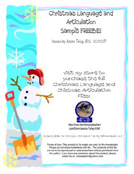 Christmas Artic and Language Sample FREEBIE!