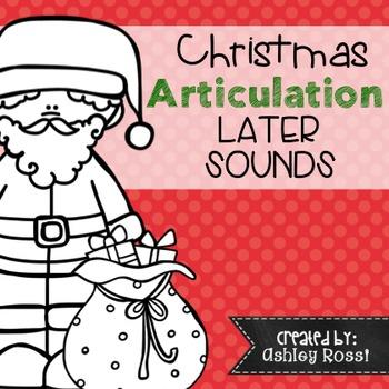Christmas Articulation - No Prep: Later Sounds