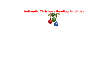 Christmas Authentic Spanish Readings Activity Pack