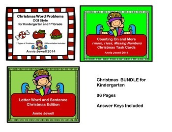 Christmas BUNDLE for Kindergarten