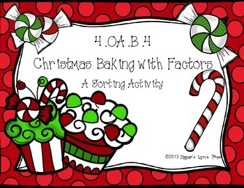 Christmas Baking with Factors Sort {Math Game}
