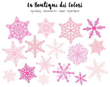 Christmas Clipart - Cute Pink Snowflake PNG  - For Small C