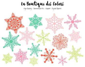 Christmas Snow Clipart - PNG Cute Snowflake Clip Art - Sma