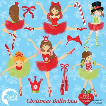 Christmas Ballerina papers and backgrounds AMB-571