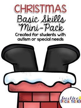 Christmas Basic Skills Mini-Pack for students with Autism