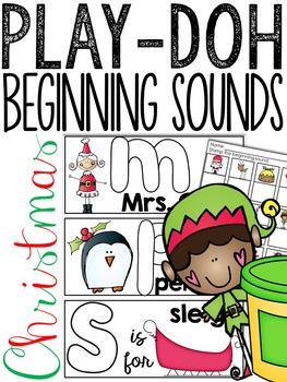 Christmas Beginning Sounds Play-Doh Mats