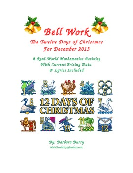Christmas Bell Work - 12 days of Christmas (song & math ac
