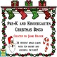 Pre-K and Kindergarten Christmas Symbols Bingo