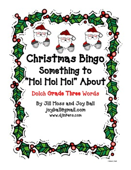 Christmas Bingo:  Dolch Grade Three High Frequency Words