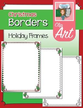 Christmas Borders - Candy Cane Clip Art