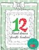 Christmas Borders - Christmas Frames Doodle - Hand-drawn b