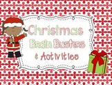 Christmas Brain Busters and Activities