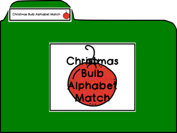 Christmas Bulb Alphabet A-Z Uppercase to Lowercase Match F