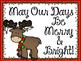 Christmas Bulletin Board. Christmas Light bulbs. May Our D